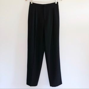 Dana Buchman Wool Dress Pants Pleated Lined Black